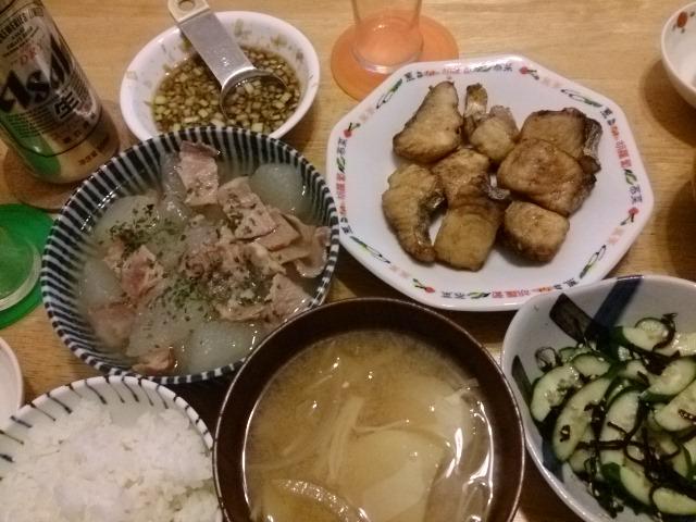 揚げサワラのネギソース〜中華包丁は良く切れる
